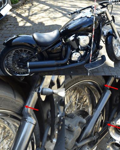 Auszug aus dem Kfz-Gutachtens einer Kawasaki von 16.04.2020